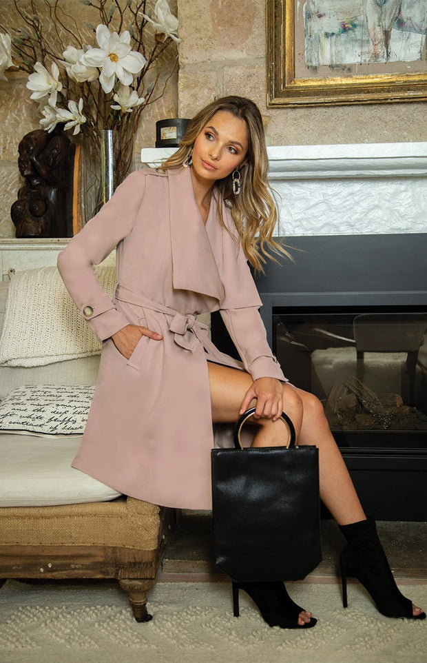 Brigitte Coat - Mauve-Coats-Style State-ESTHER & CO.