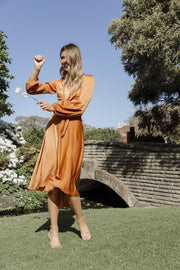 Bryleigh Dress - Rust