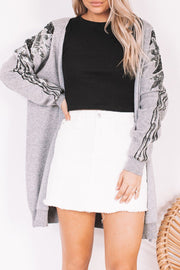 Calisto Cardigan - Grey-Cardigans-Womens Clothing-ESTHER & CO.