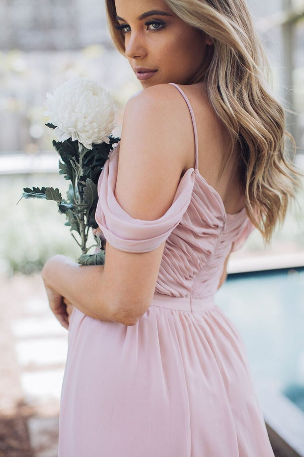 Camellia Dress - Dark Blush-Dresses-Esther Luxe-ESTHER & CO.