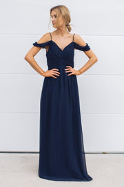 Camellia Dress - Navy-Dresses-Esther Luxe-ESTHER & CO.
