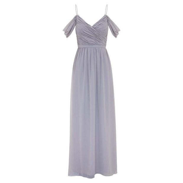 Camellia Dress - Silver-Dresses-Esther Luxe-ESTHER & CO.