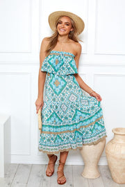 Capulet Dress - Aqua Print