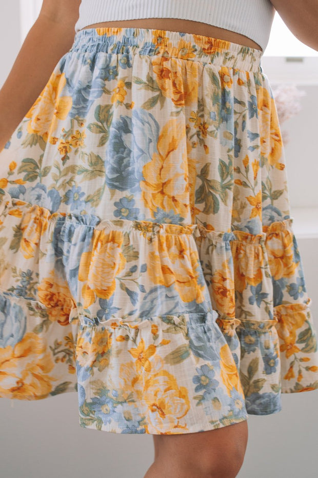 Carmilla Skirt - Floral Print-Skirts-Womens Clothing-ESTHER & CO.