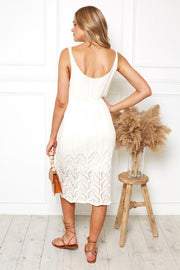 Castaway Dress - Cream-Dresses-Womens Clothing-ESTHER & CO.