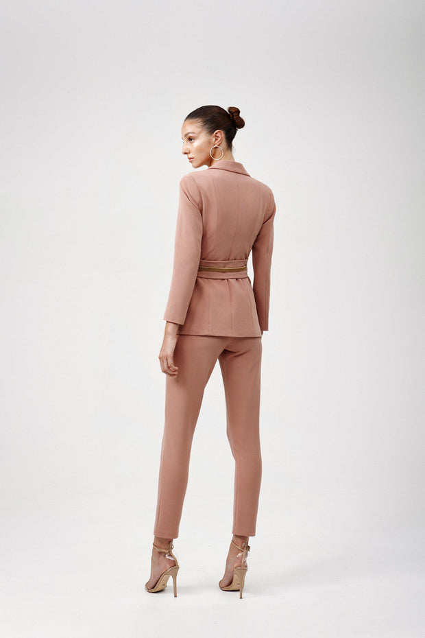 Celine Jacket - Dusty Pink-Blazers-Womens Clothing-ESTHER & CO.