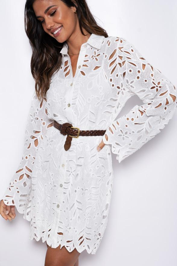 Chantilly Dress - White