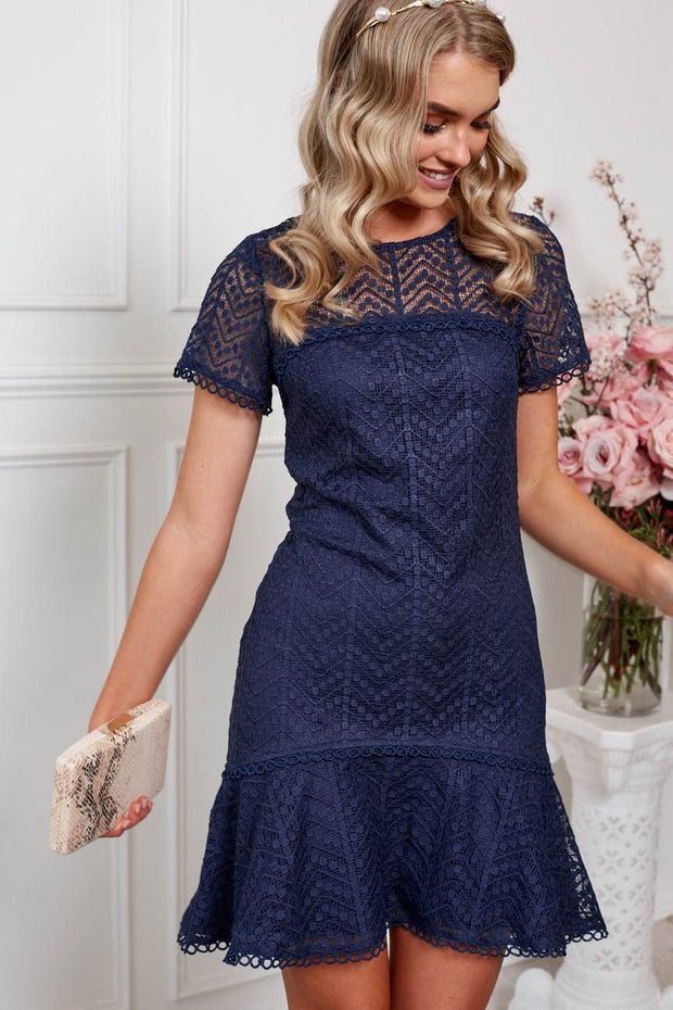 Charmed Dress - Navy-Dresses-Womens Clothing-ESTHER & CO.