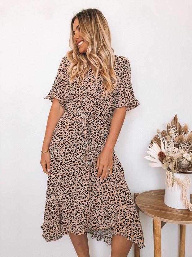 Cheetah Dress - Leopard Print-Dresses-Womens Clothing-ESTHER & CO.