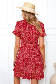 Cherry Bomb Dress - Red Print-Dresses-Womens Clothing-ESTHER & CO.