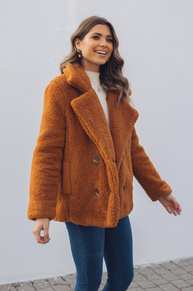 Cherub Coat - Rust-Coats-Womens Clothing-ESTHER & CO.