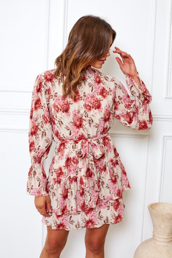 Preorder Chicka Dress - Pink Print-Dresses-Womens Clothing-ESTHER & CO.
