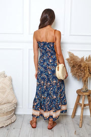 Chrissy Dress - Navy Print-Dresses-Womens Clothing-ESTHER & CO.