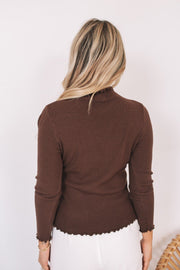 Christa Top - Coffee-Tops-Womens Clothing-ESTHER & CO.