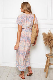 Chula Dress - Pink Print-Dresses-Womens Clothing-ESTHER & CO.