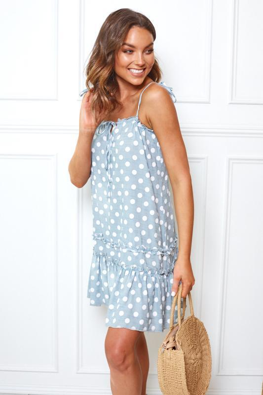 Cici Dress - Blue Spot