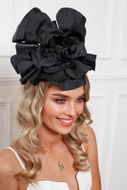 Cindy Fascinator - Black-Fascinators-Womens Accessory-ESTHER & CO.