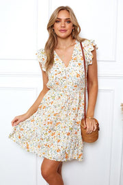 Citrus Dress - White Print