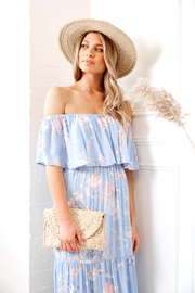 Preorder Claus Dress - Pastel Blue-Dresses-Womens Clothing-ESTHER & CO.