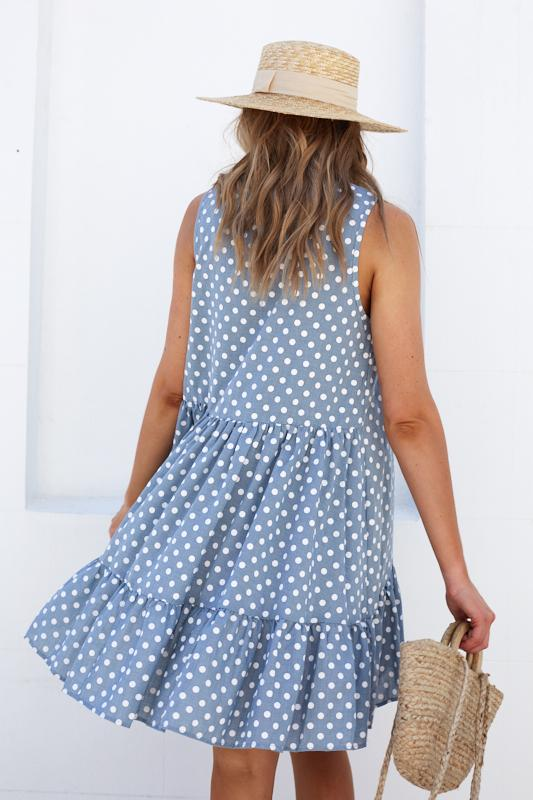 Cocoa Dress - Blue Spot