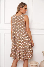 Cocoa Dress - Brown Spot-Dresses-Womens Clothing-ESTHER & CO.