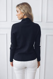 Cordial Knit - Black-Tops-Desire-ESTHER & CO.