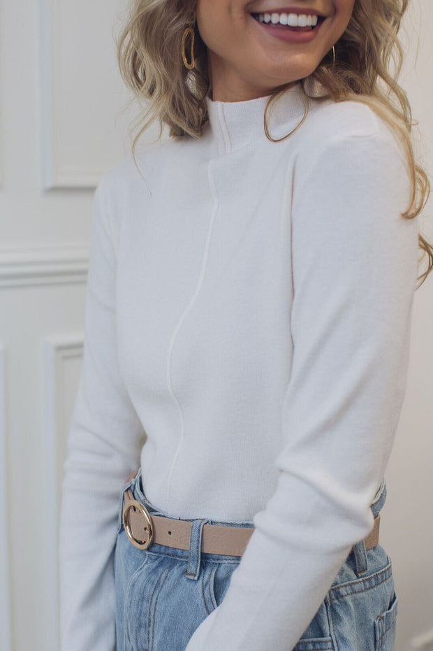 Cordial Knit - White-Tops-Desire-ESTHER & CO.