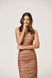 Courtney Dress - Rose Gold-Dresses-Womens Clothing-ESTHER & CO.