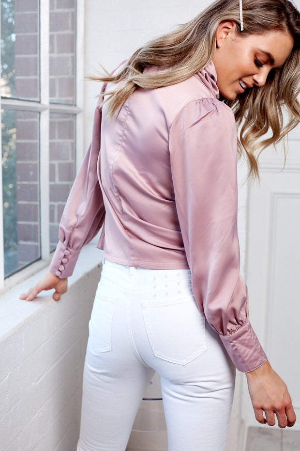 Cowl Neck Top - Blush