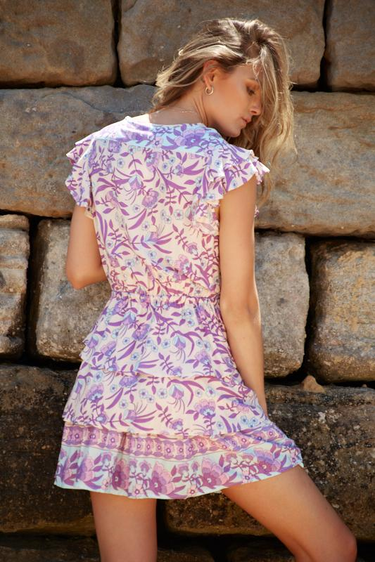 Crystler Dress - Purple Print