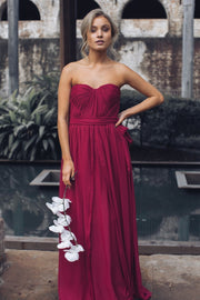 Dahlia Multi Way Maxi Dress - Burgundy