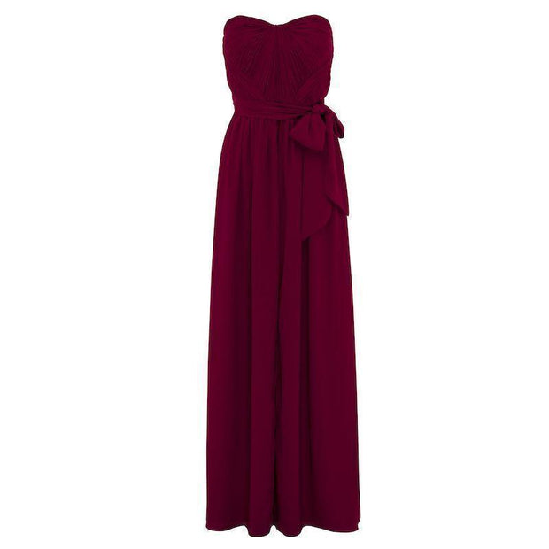 Dahlia Multi Way Maxi Dress - Burgundy-Dresses-Esther Luxe-ESTHER & CO.