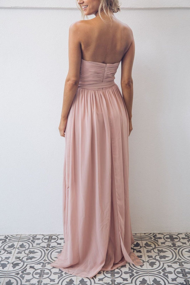 Dahlia Multi Way Maxi dress - Dark Blush-Dresses-Esther Luxe-ESTHER & CO.
