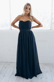 Dahlia Multi Way Maxi Dress - Navy-Dresses-Esther Luxe-ESTHER & CO.