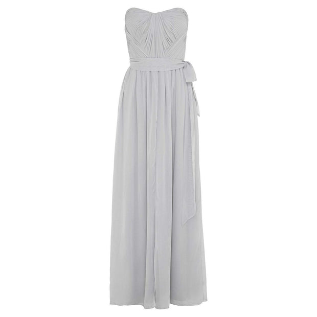 Dahlia Multi Way Maxi Dress - Silver-Dresses-Esther Luxe-ESTHER & CO.