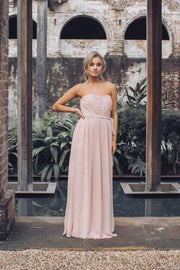 Dahlia Multi Way Maxi Dress - Soft Peach