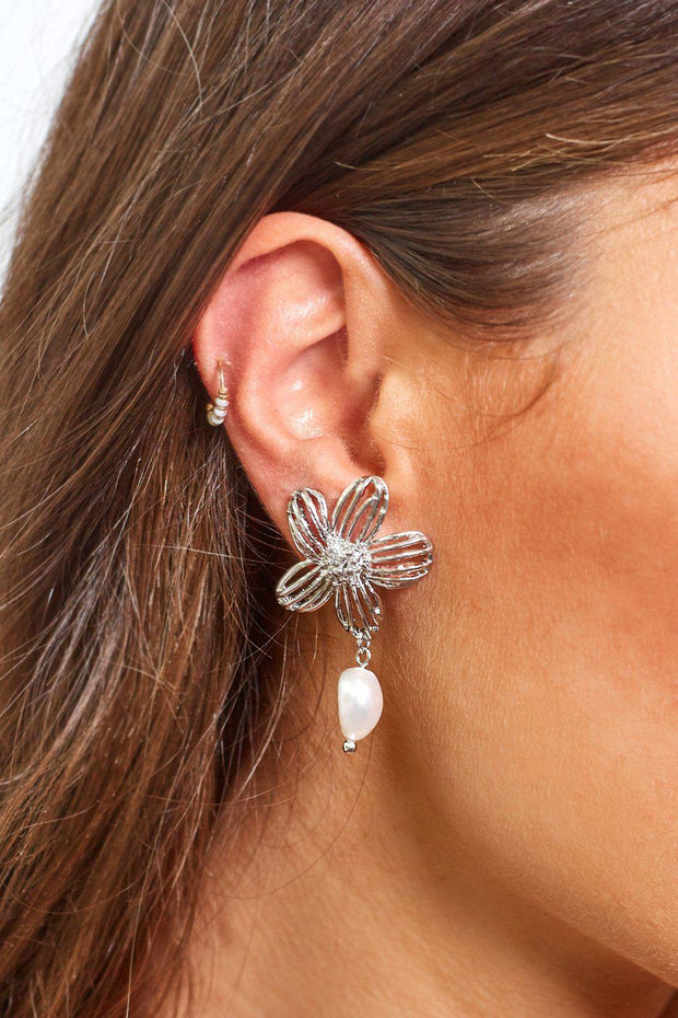 Daisie Earrings - Silver-Earrings-Womens Accessory-ESTHER & CO.