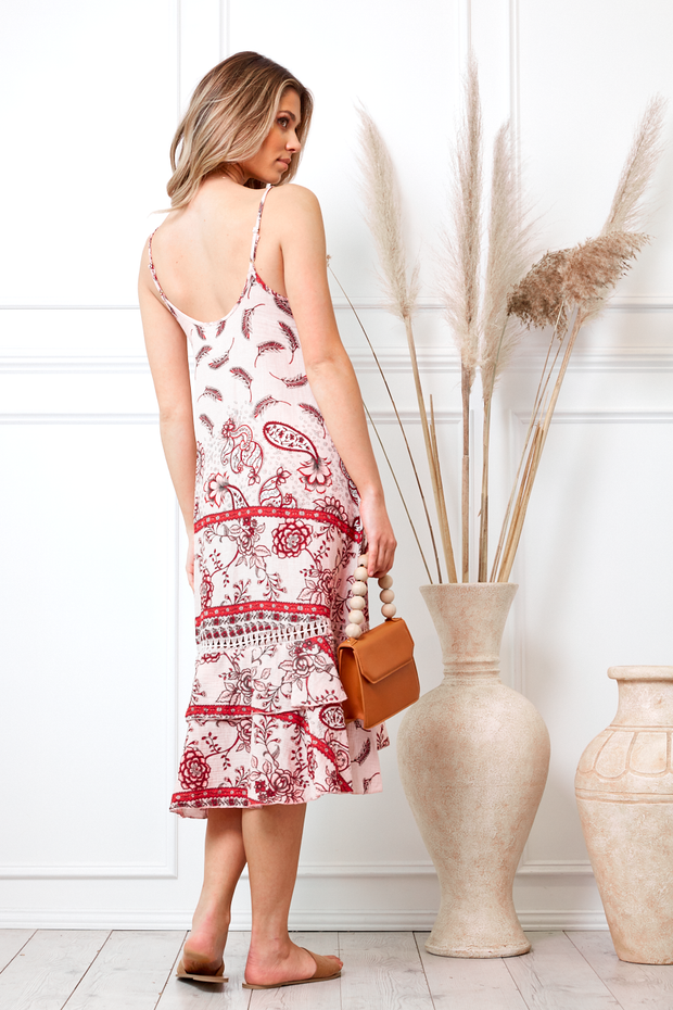 Preorder Darbie Dress - Pink Print-Dresses-Womens Clothing-ESTHER & CO.