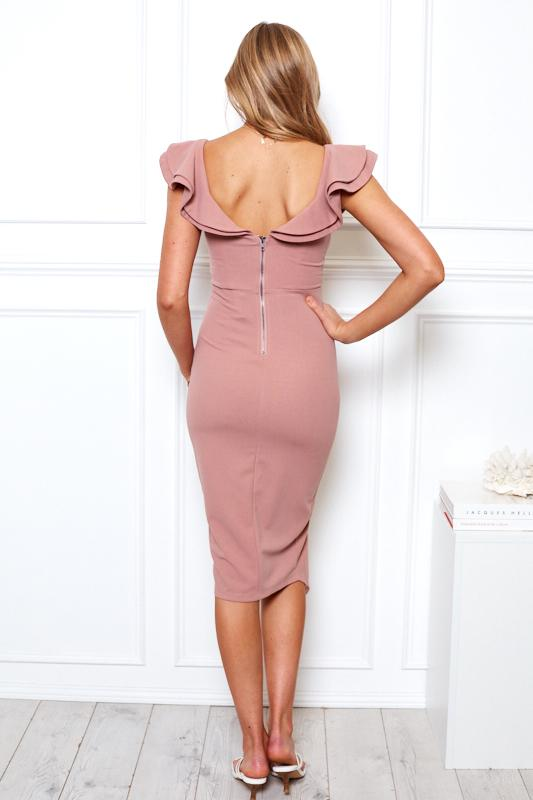 Darline Dress - Dusty Pink