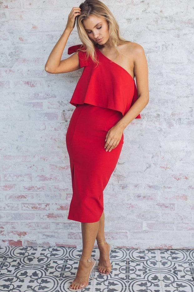 Date Night Dress - Red-Dresses-Style State-ESTHER & CO.