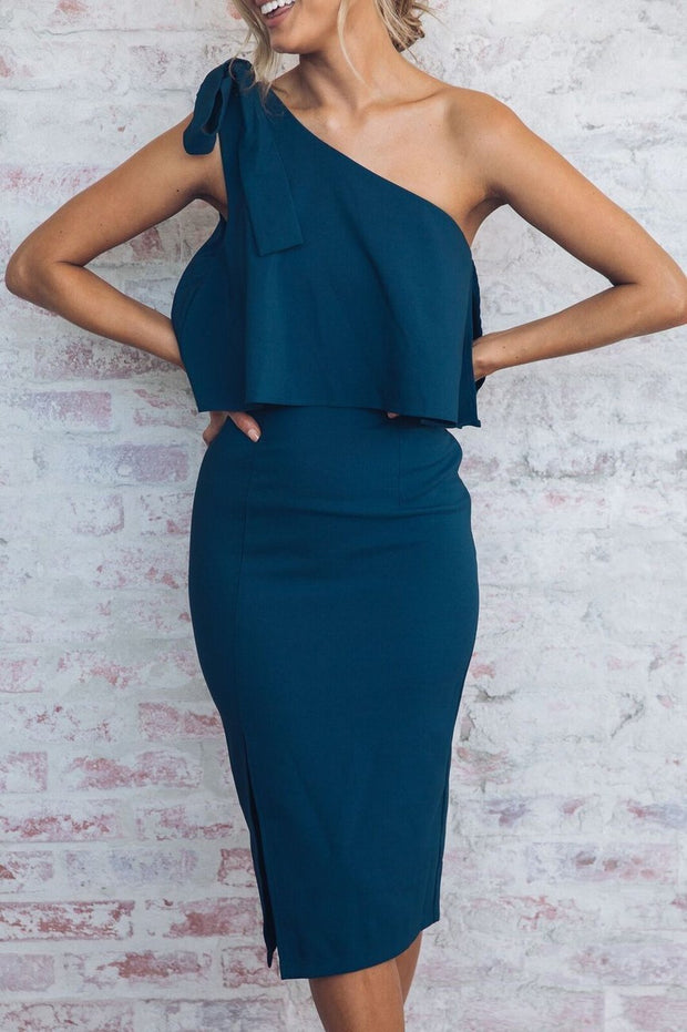 Preorder Date Night Dress - Teal-Dresses-Style State-ESTHER & CO.