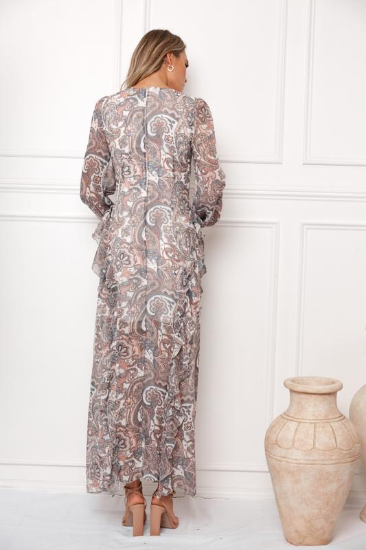 Delfi Dress - White Print