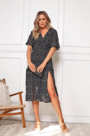 Dotti Dress - Black Spot-Dresses-Womens Clothing-ESTHER & CO.