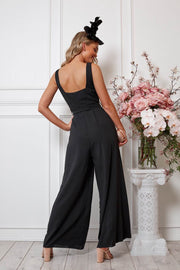 Due Jumpsuit - Black-Jumpsuits-Womens Clothing-ESTHER & CO.
