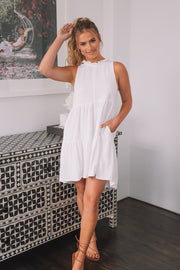 Eileen Dress - White-Dresses-Womens Clothing-ESTHER & CO.