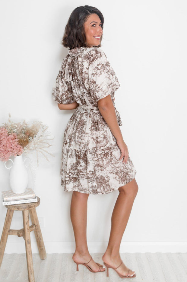 Elicia Dress - Print-Dresses-Womens Clothing-ESTHER & CO.