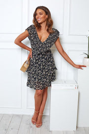 Eliza Dress - Black Floral