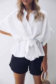 Ellis Top - White-Tops-into fashion-ESTHER & CO.