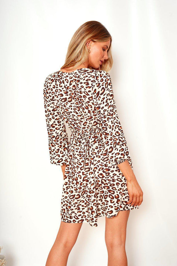 Elysa Dress - Leopard Print-Dresses-Womens Clothing-ESTHER & CO.