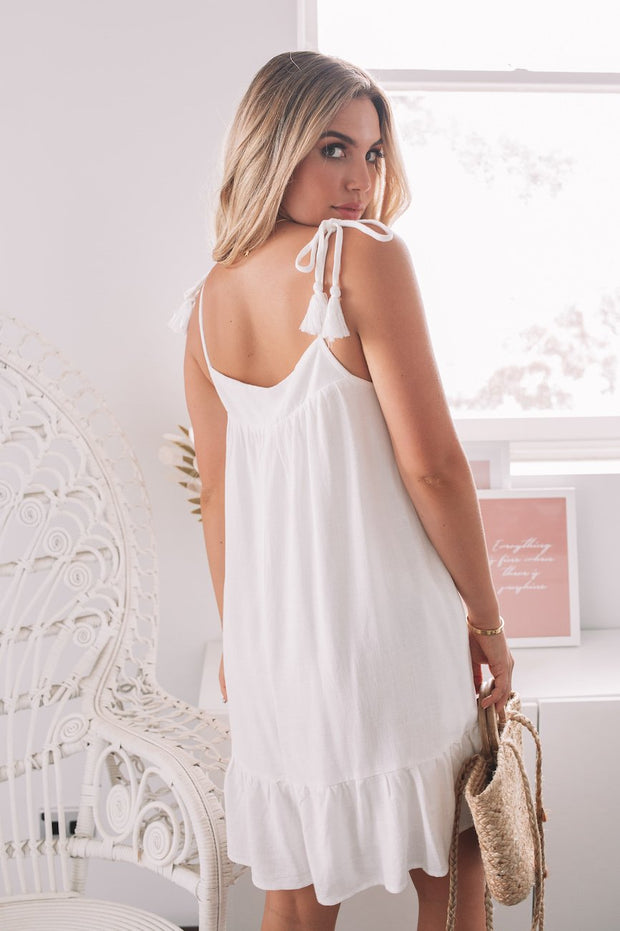 Emersyn Dress - White-Dresses-Womens Clothing-ESTHER & CO.